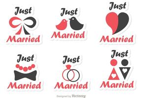 Simple Just Married Vectors