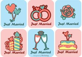 Cartoon Just Married Vectors