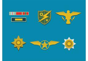 Badges de l'armée vectorielle