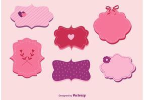 Vecteurs d'étiquettes d'amour et de valentine