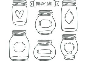 Libre vectores jarra de albañil