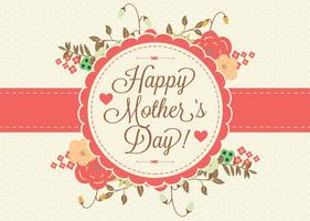 Ilustración Floral de Día de la Madre