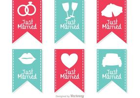 Just Married Sign Banner Vectoren