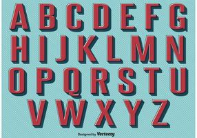 Conjunto de alfabeto estilo retro