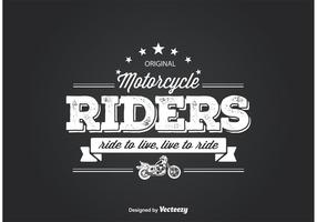 Motorradfahrer-T-Shirt Entwurf