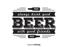 Diseño de la camiseta de la cerveza