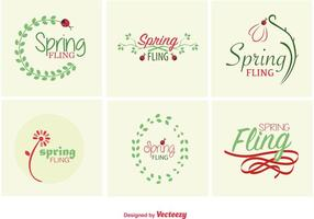 Spring Typographic signs vector