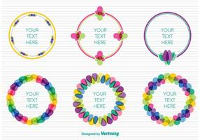 Spring colourful frames vector