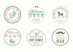 Free Baby Label Set Vektor