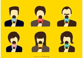 Vetores do repórter de notícias