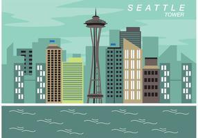 Seattle espacio aguja vector