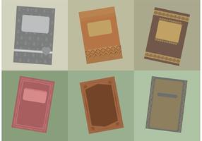 Vintage Old Book Covers vector