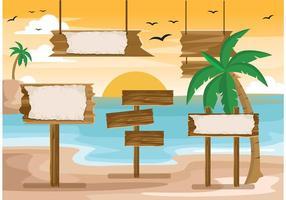Cartelera para los vectores de la playa