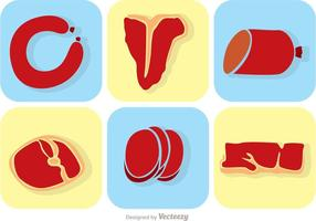 Set Of Meat Vectors