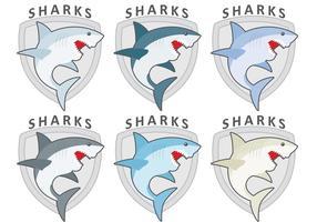 Shark logo vektorer
