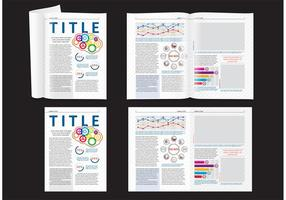 Science Magazine Layout vector