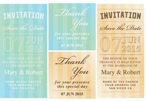 Invitation And Thank You Cards vector