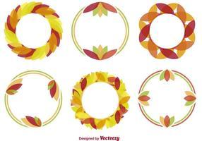Minimal Autumn Wreath Vectors