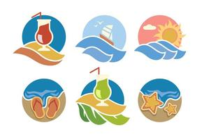 Verano Beach Vector Icons
