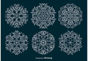 Dekorativa snöflingor vektorer