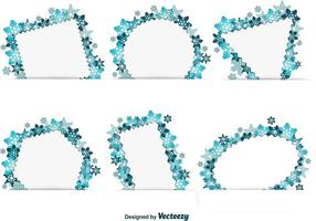 Snowflake Winter Text Frames