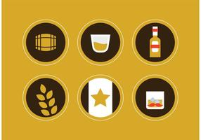 Iconos De Vector De Whisky