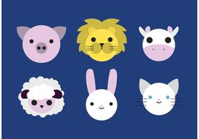 Cute animales vectores