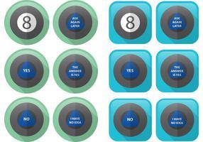 Flat Magic 8 Ball Vectors