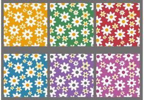 Kleurrijke Bloemen Achtergrond Vectoren