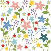 Vector de fondo floral sin fisuras