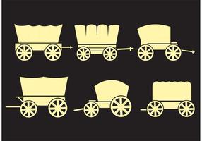 Täckta vagnar vektorer