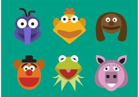 Personagens Muppet Vector