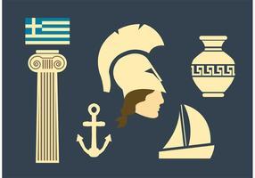 Athéna Vecteurs de déesse grecque
