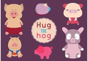 Cute Hog Vectors