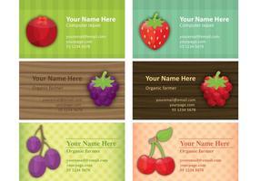 Vecteurs de carte de visite agriculteur