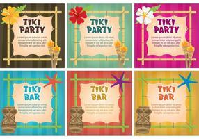 Vectores de la invitación de la antorcha de Tiki