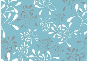 A Seamless Swirl Leaf Pattern Vector