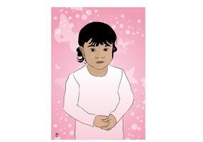 Kleine Baby Mädchen Vektor