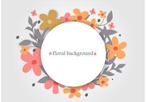 Floral Wreath Vector Achtergrond