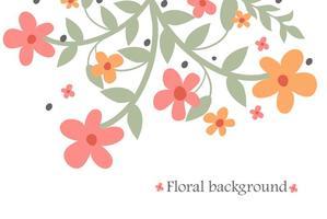 Vetor de fundo de flores abstratas