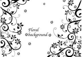 Vector de fundo floral