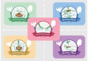 Gartenarbeit Hände Logo Vektoren