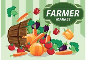 Produit vectoriel du marché des agriculteurs
