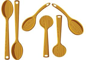 Wood Spoon Vectors