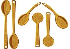 Vecteurs de cuillère à bois