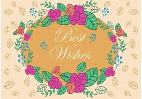 Los mejores deseos Vector