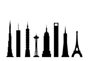Vectores de los rascacielos