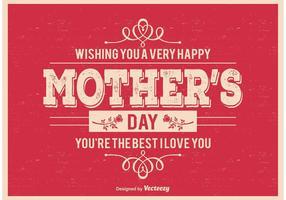 Cartel tipográfico del día de madre