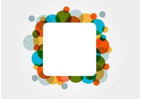 Färgglada cirkel firande vektor bakgrund