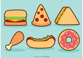 Conjunto de vetores de fast food